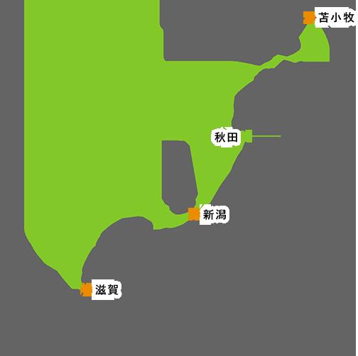 地図:フェリーでのアクセス